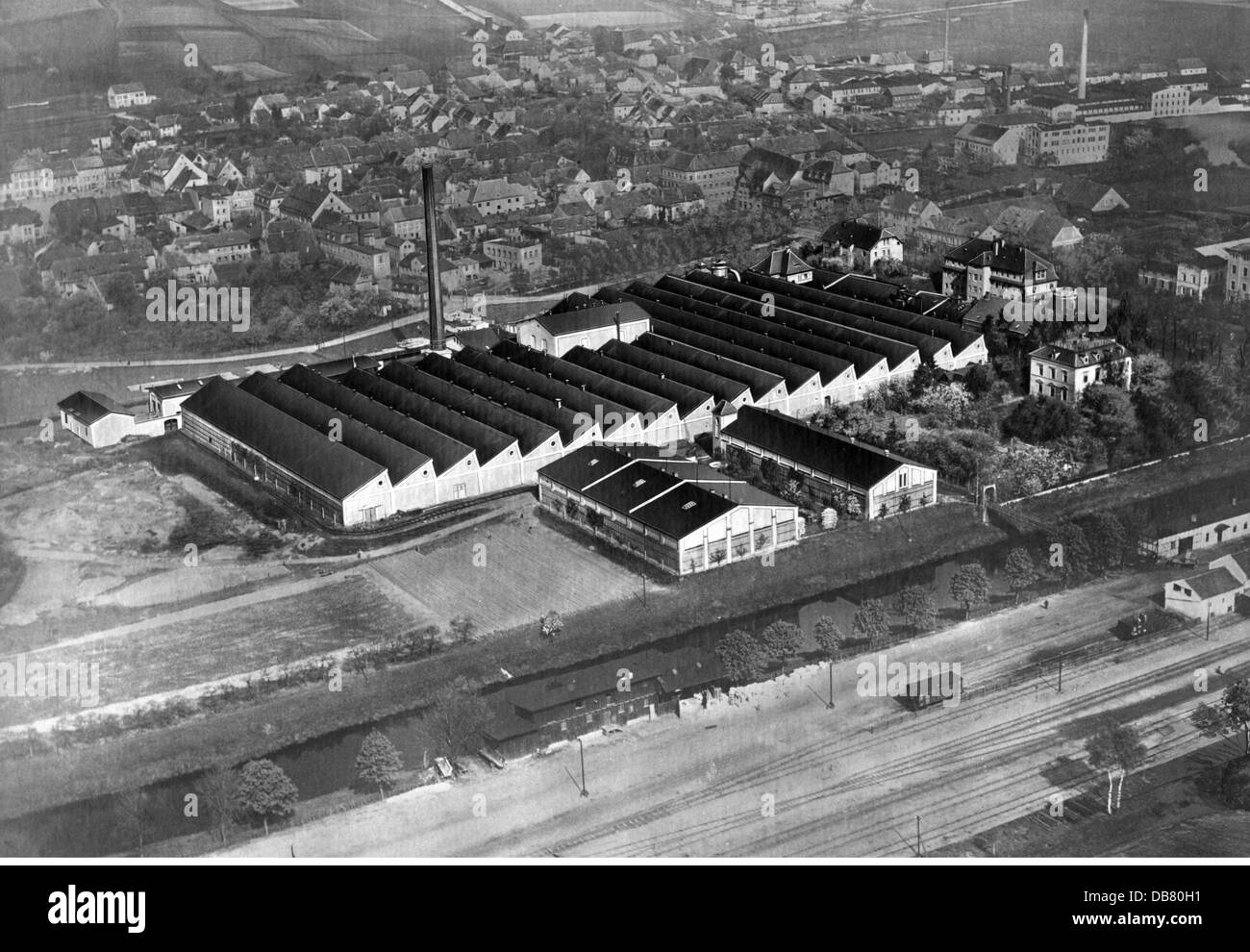 geography / travel, Germany, Ostritz, buildings, jute mill of the Vereinigte Jute-Spinnereien und Webereien AG, Stock Photo