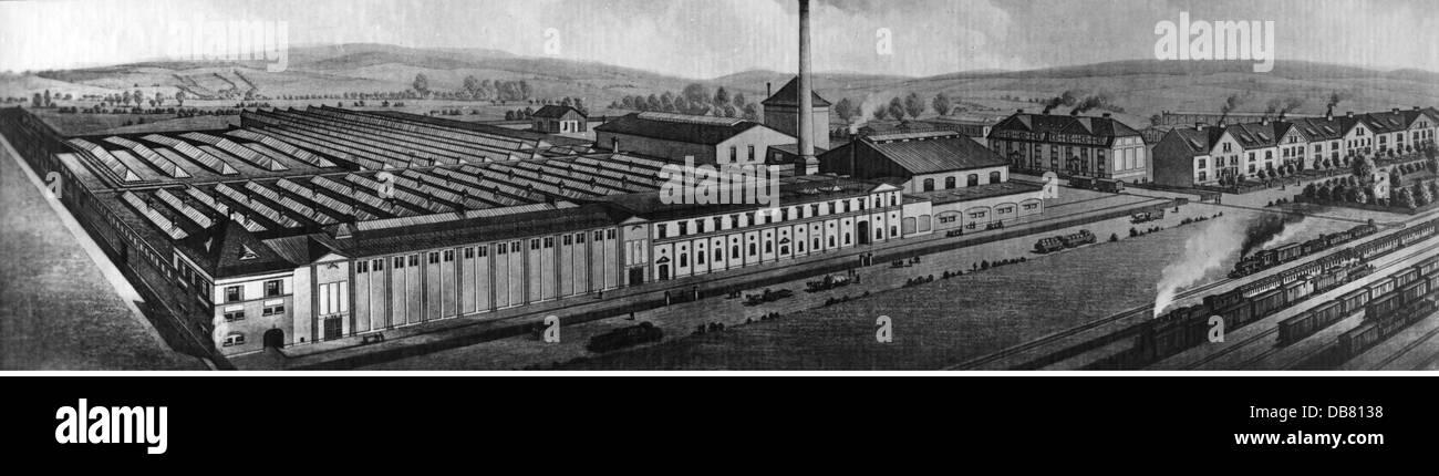 geography / travel, Germany, Hersfeld, buildings, jute mill of the Vereinigte Jute-Spinnereien und Webereien AG, - Stock Image