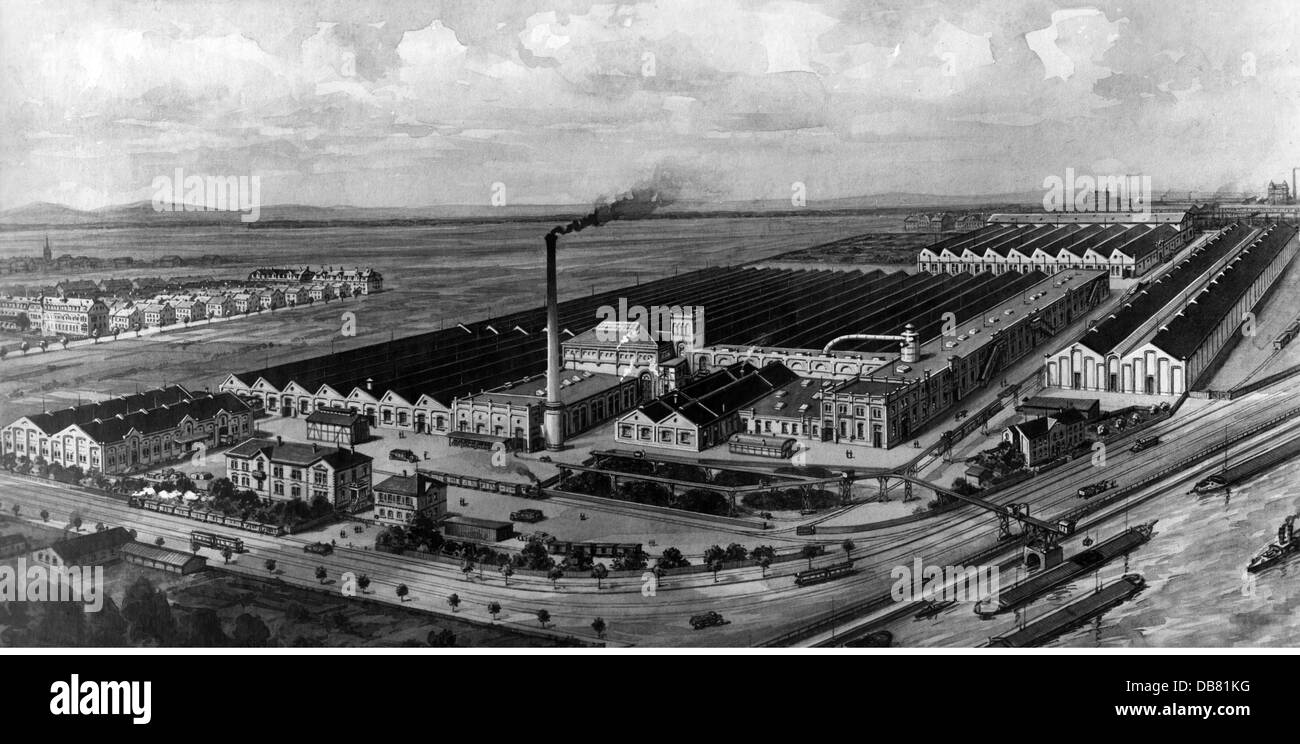 geography / travel, Germany, Mannheim, buildings, jute mill of the Vereinigte Jute-Spinnereien und Webereien AG, - Stock Image