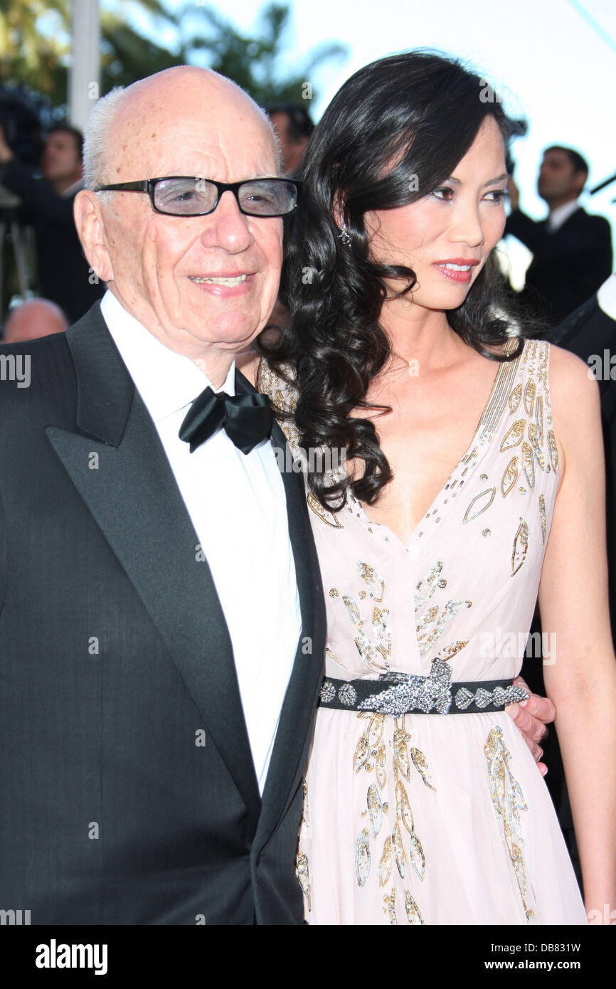 Rupert Murdoch and Wendi Deng 2011 Cannes International Film Festival - Day 6 - The Tree of Life - Premiere Cannes, - Stock Image