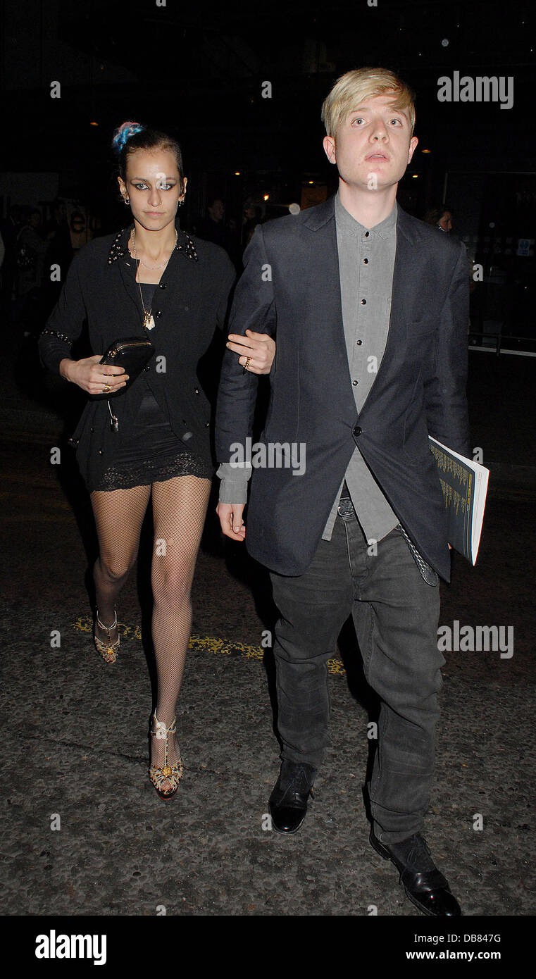 Alice Dellal,  at the Northern Ballet's press night of 'Cleopatra' at Saddlers Wells Theatre - Departures - Stock Image