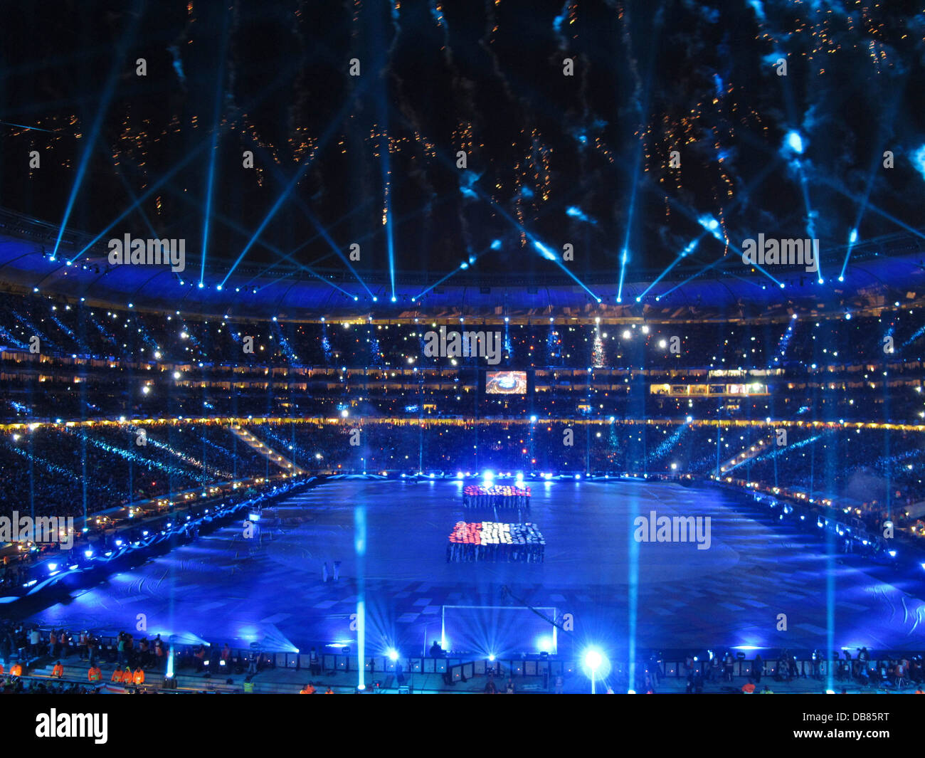 closing ceremony final World Cup Soccer 2010 FNB Stadium in Soweto duriong 2010 FIFA World Cup Soccer in South Africa - Stock Image