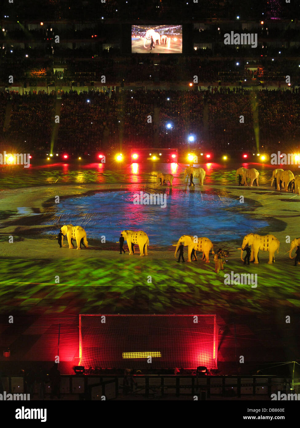 closing ceremony final World Cup Soccer 2010 FNB Stadium in Soweto during 2010 FIFA World Cup Soccer in South Africa - Stock Image