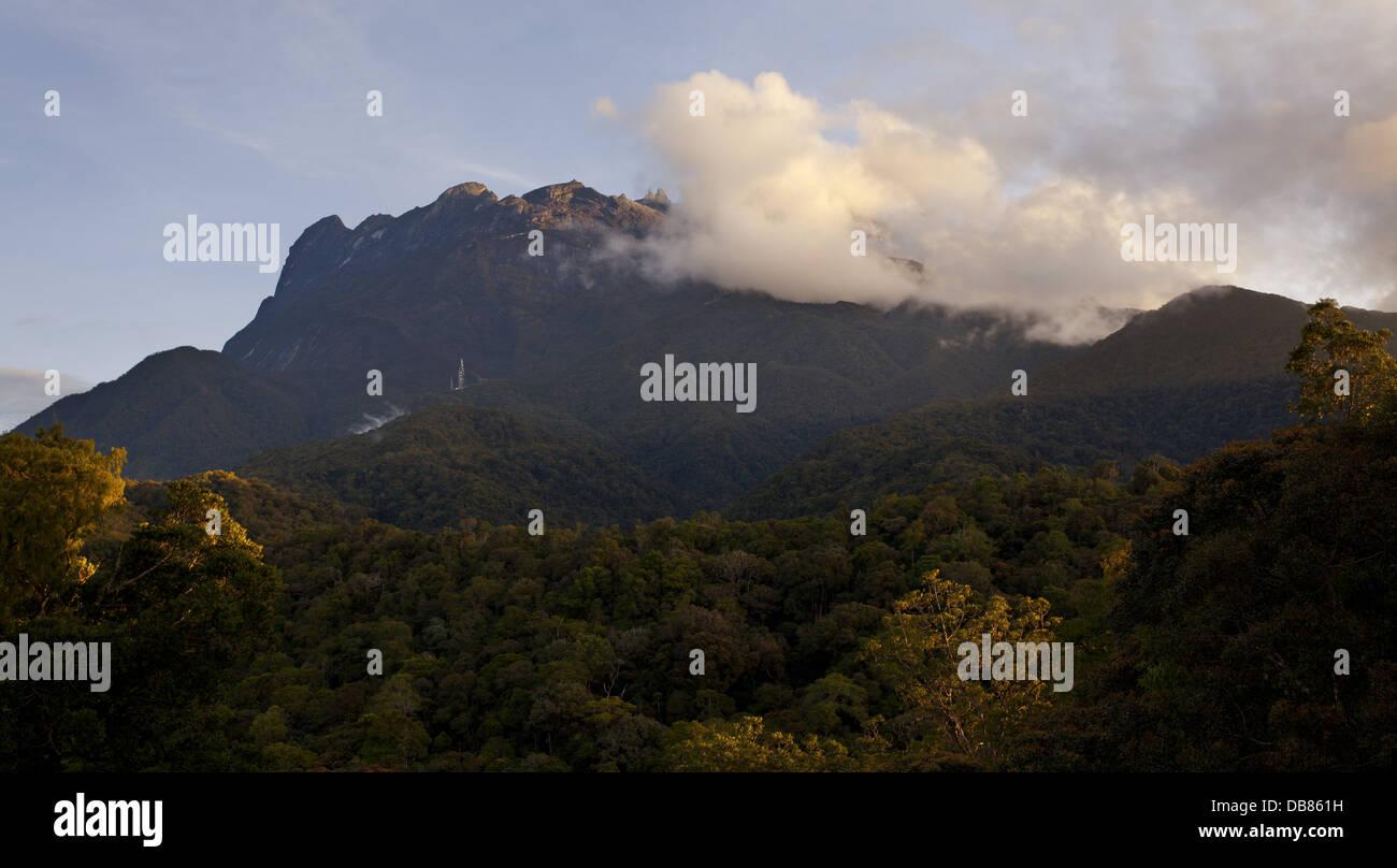 Mount Kinabalu, Malaysia's highest mountain, Sabah, Malaysia - Stock Image