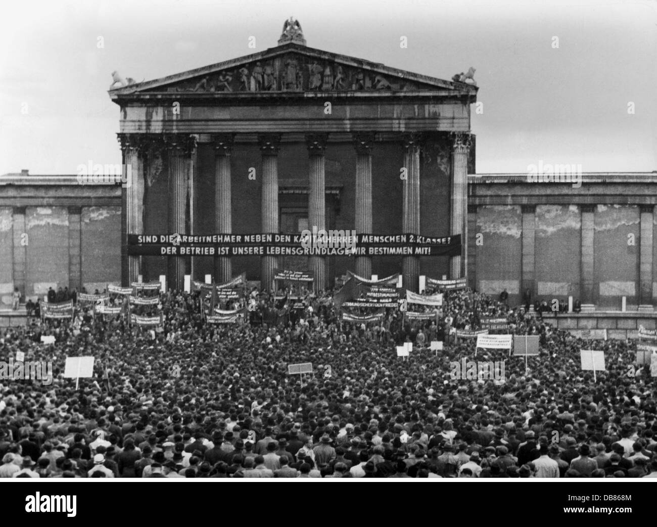 demonstrations, Germany, manifestation of the German federation of trade unions for the operational co-determination, - Stock Image