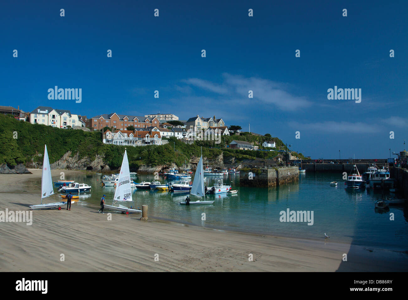 Newquay Harbour, Newquay, Cornwall - Stock Image