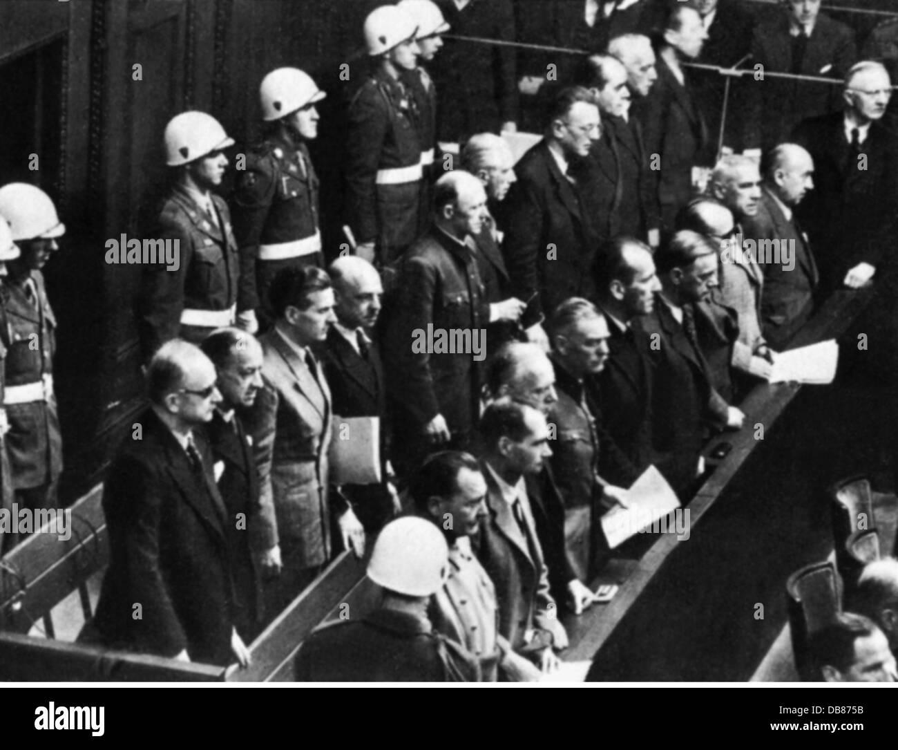justice, lawsuits, Nuremberg Trials, trial against the major war criminals, dock, Nuremberg, 1945 / 1946, from: Stock Photo