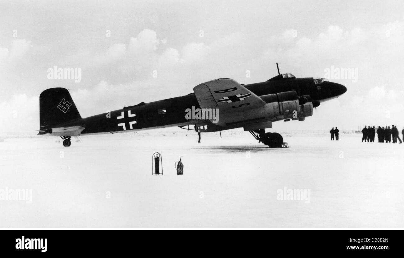 Second World War / WWII, aerial warfare, aeroplanes, Focke-Wulf Fw 200 'Condor', 1940s, Additional-Rights - Stock Image