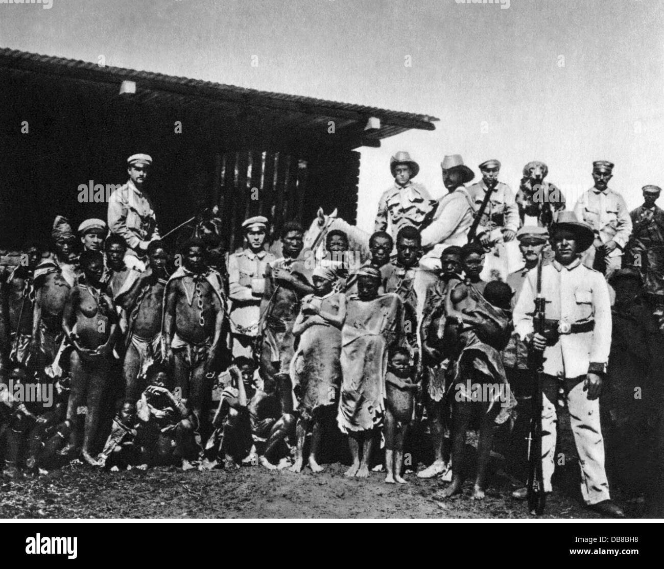 colonialism, Africa, German South-West Africa, insurrection of the Herero and Namaqua 1904 - 1908, Additional-Rights - Stock Image