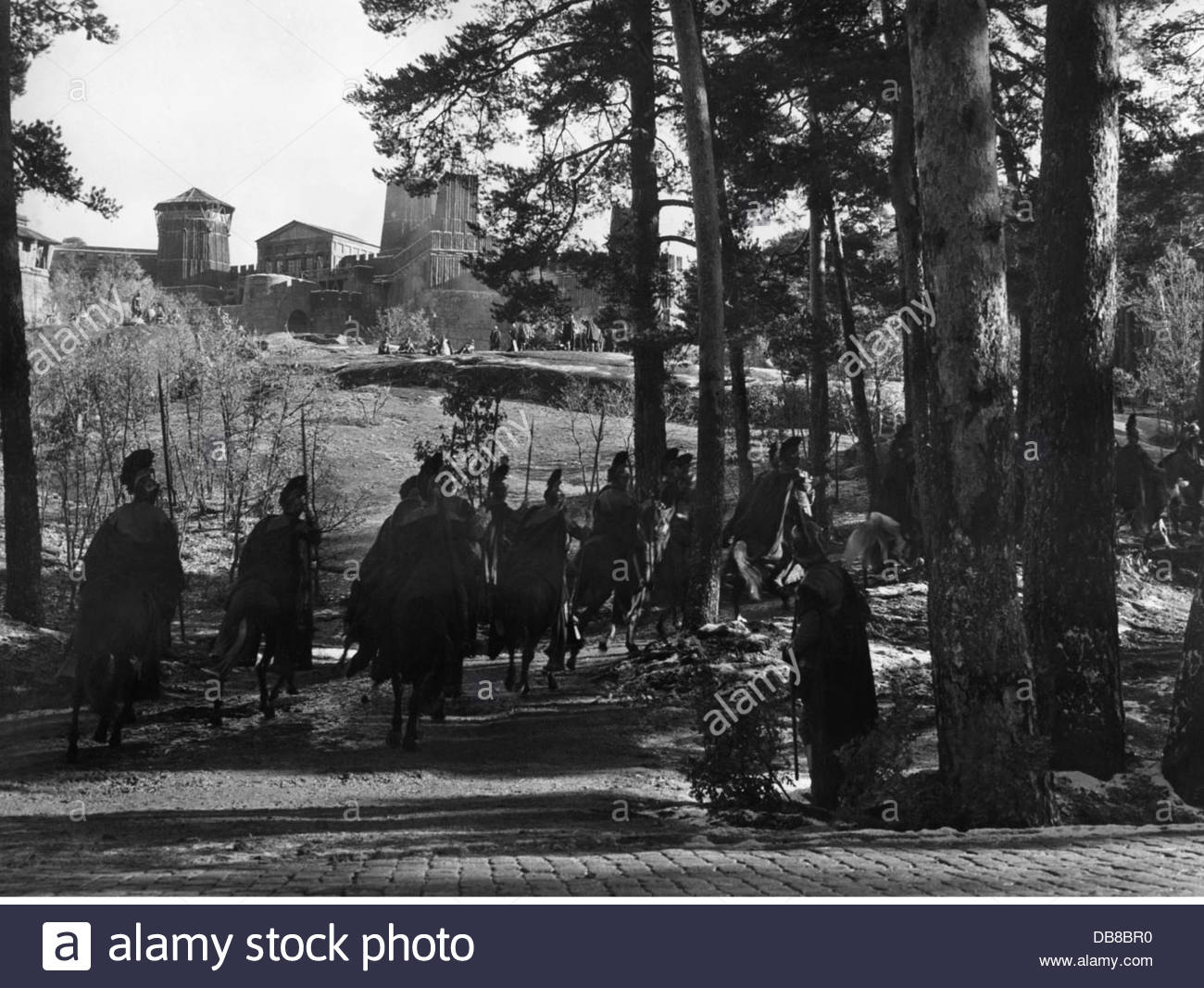 """movie, shooting, background actors as Roman cavalry, shooting of the movie """"The Fall of the Roman Empire"""" by Anthony Stock Photo"""