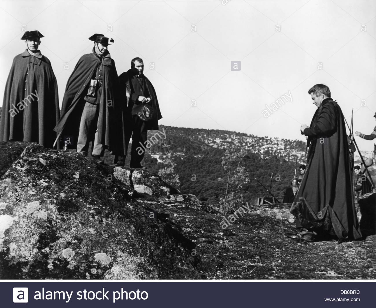 """Mason, James, 15.5.1909 - 27. 7.1984, British actor, during of the shooting of the movie """"The Fall of the Roman Stock Photo"""