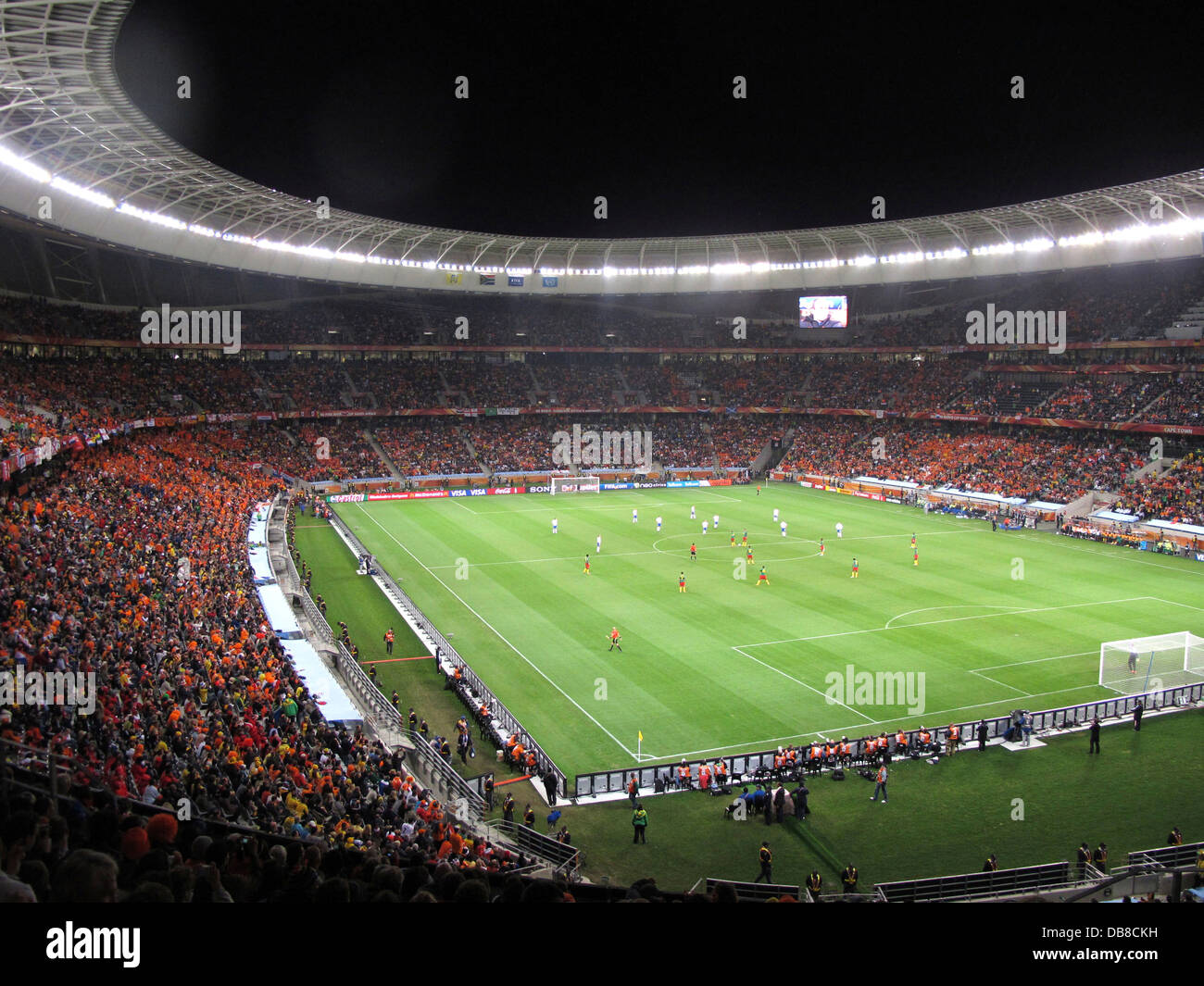 football match at Cape Town stadium during the 2010 FIFA World Cup Soccer in South Africa - Stock Image