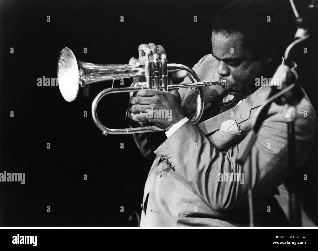 Hubbard, Freddie, 7.4.1938 - 29.12.2008, American musician (jazz), trumpeter, half length, during stage performance, Stock Photo