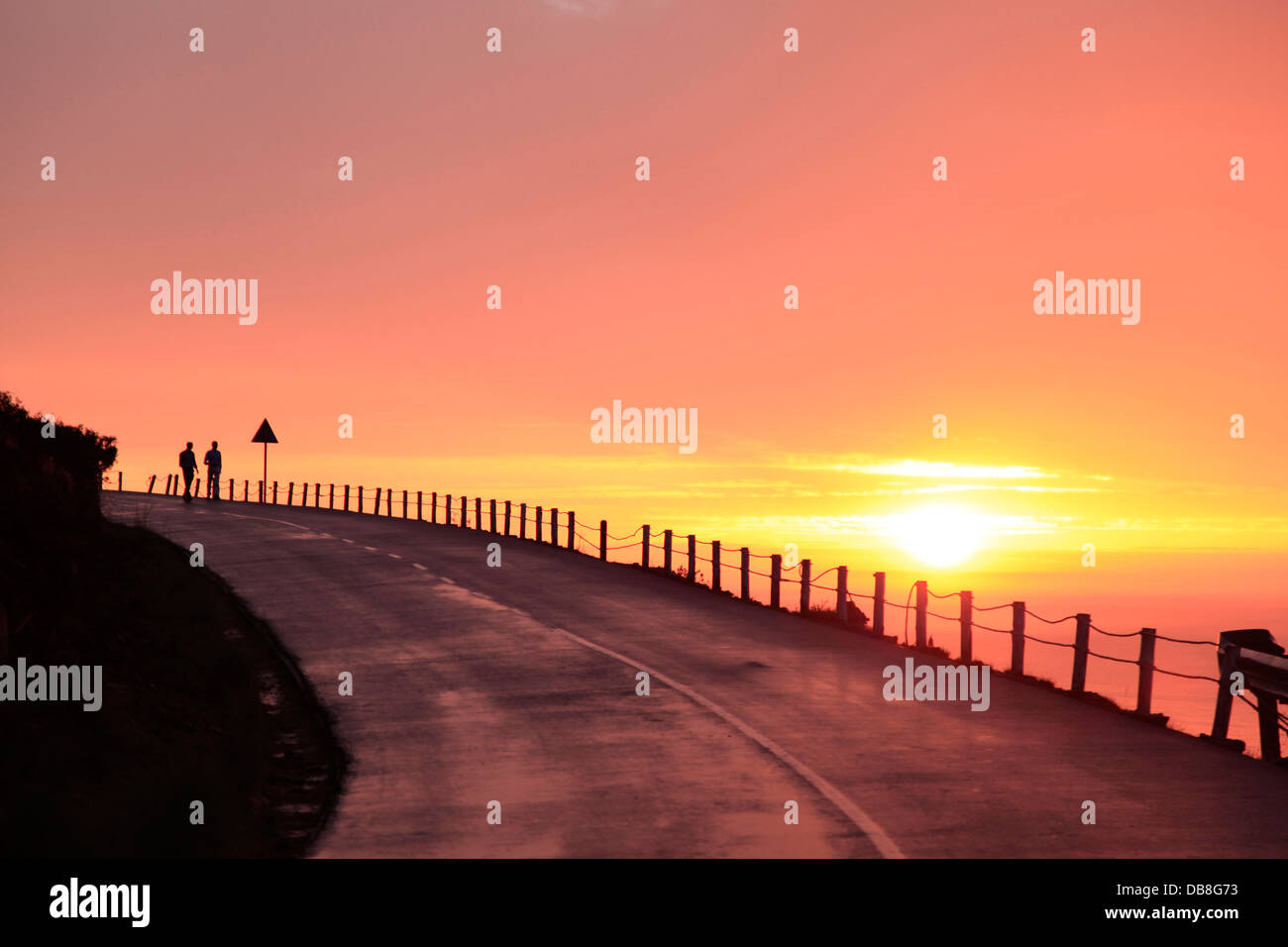 sunset, Signal Hill, Atlantic seaboard, Sea Point, Cape Town - Stock Image