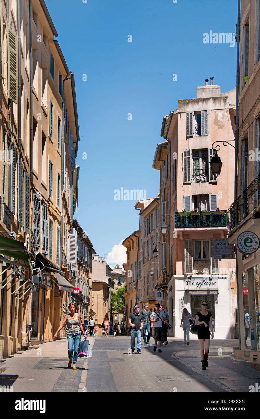 Aix En Provence France French old town city center - Stock Image