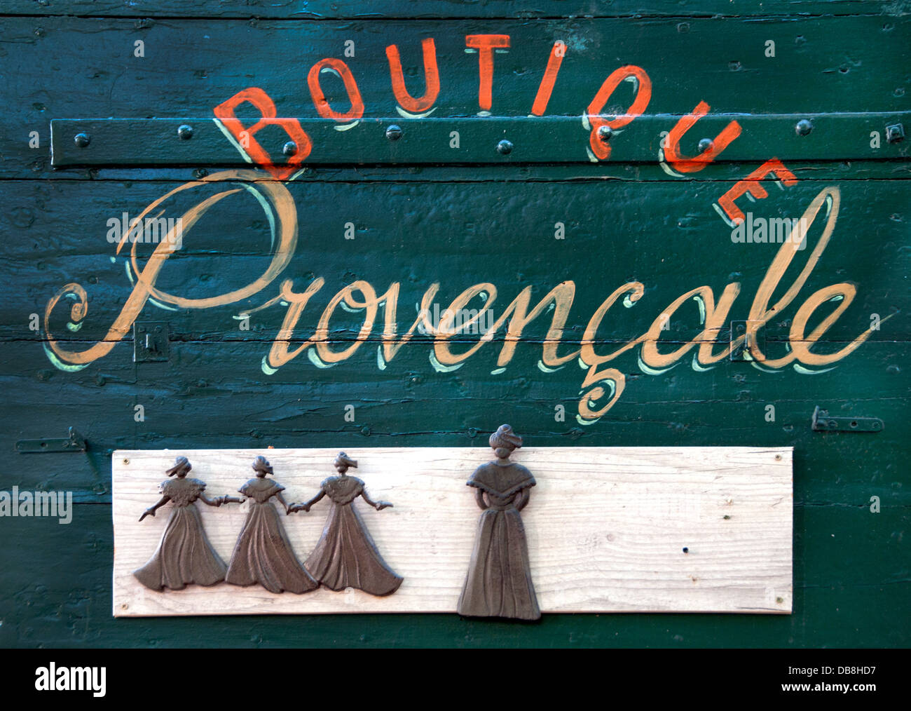 Boutique Provencale Provence Fashion Clothes France French - Stock Image