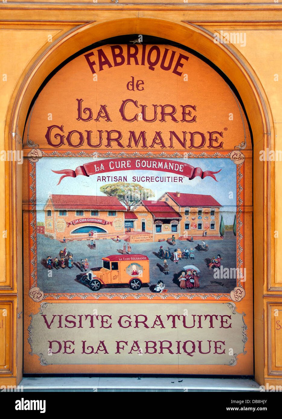 La Cure Gourmande Created in 1989  French  Chocolates Confectionery Ice Cream France - Stock Image