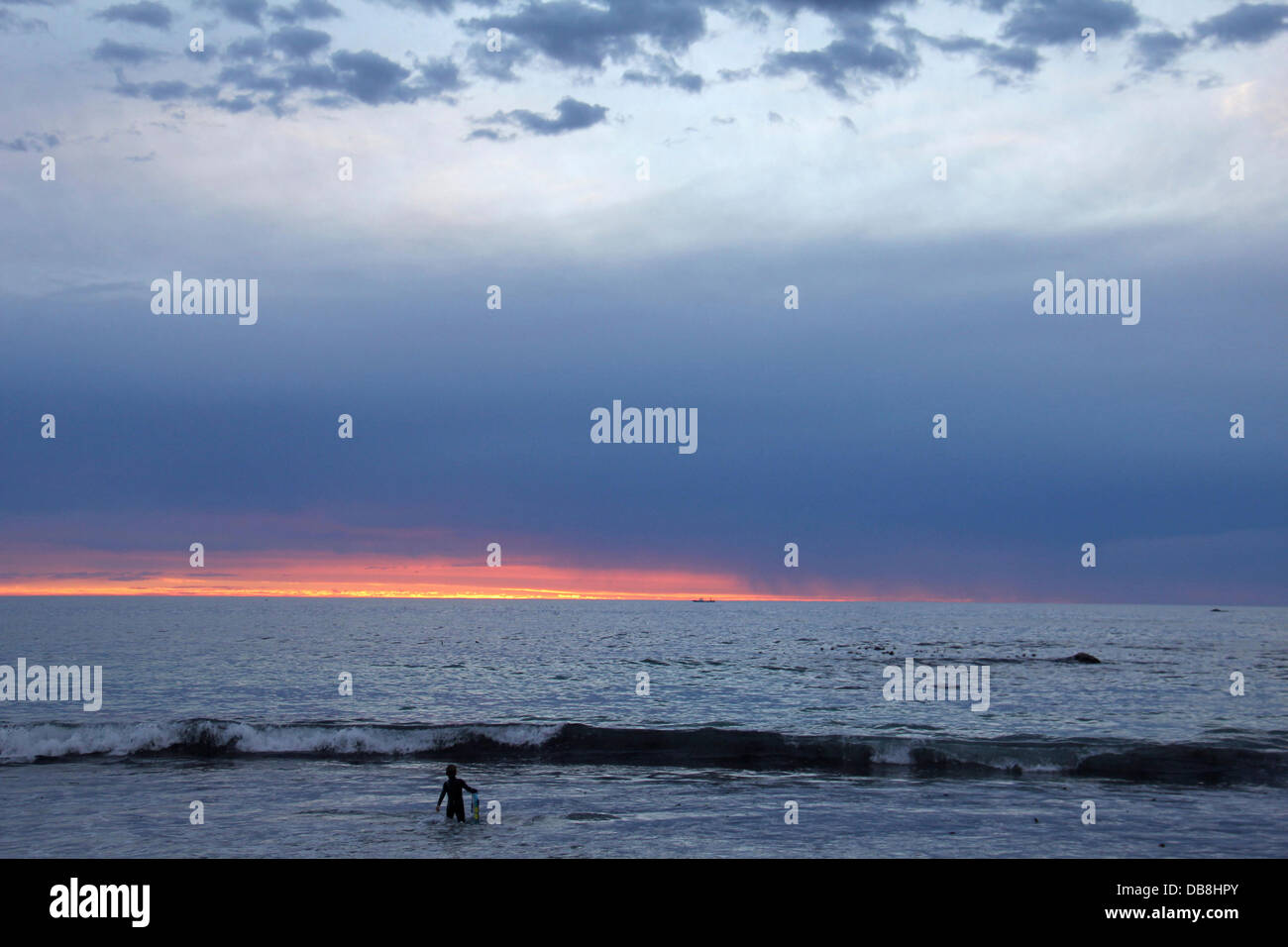 sunset, Atlantic seaboard, Clifton, Cape Town - Stock Image