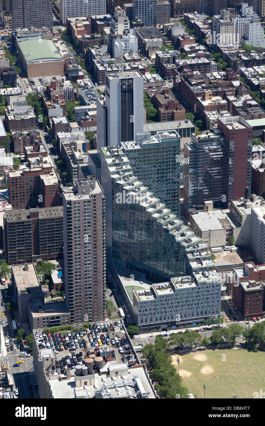 Aerial view of the Mercedes Benz Flagship store Manhattan, New York City - Stock Image