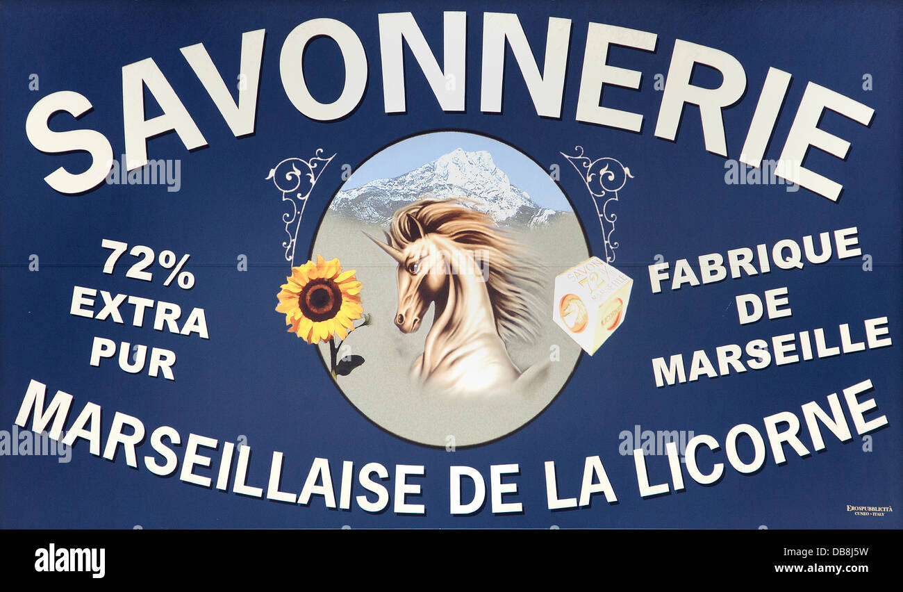Savonnerie Marseilles Soap Factory France French - Stock Image
