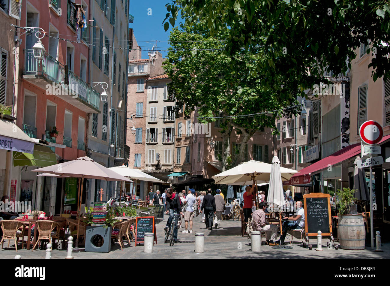 Toulon Rue Hippolyte Duprat  France French Riviera - Stock Image