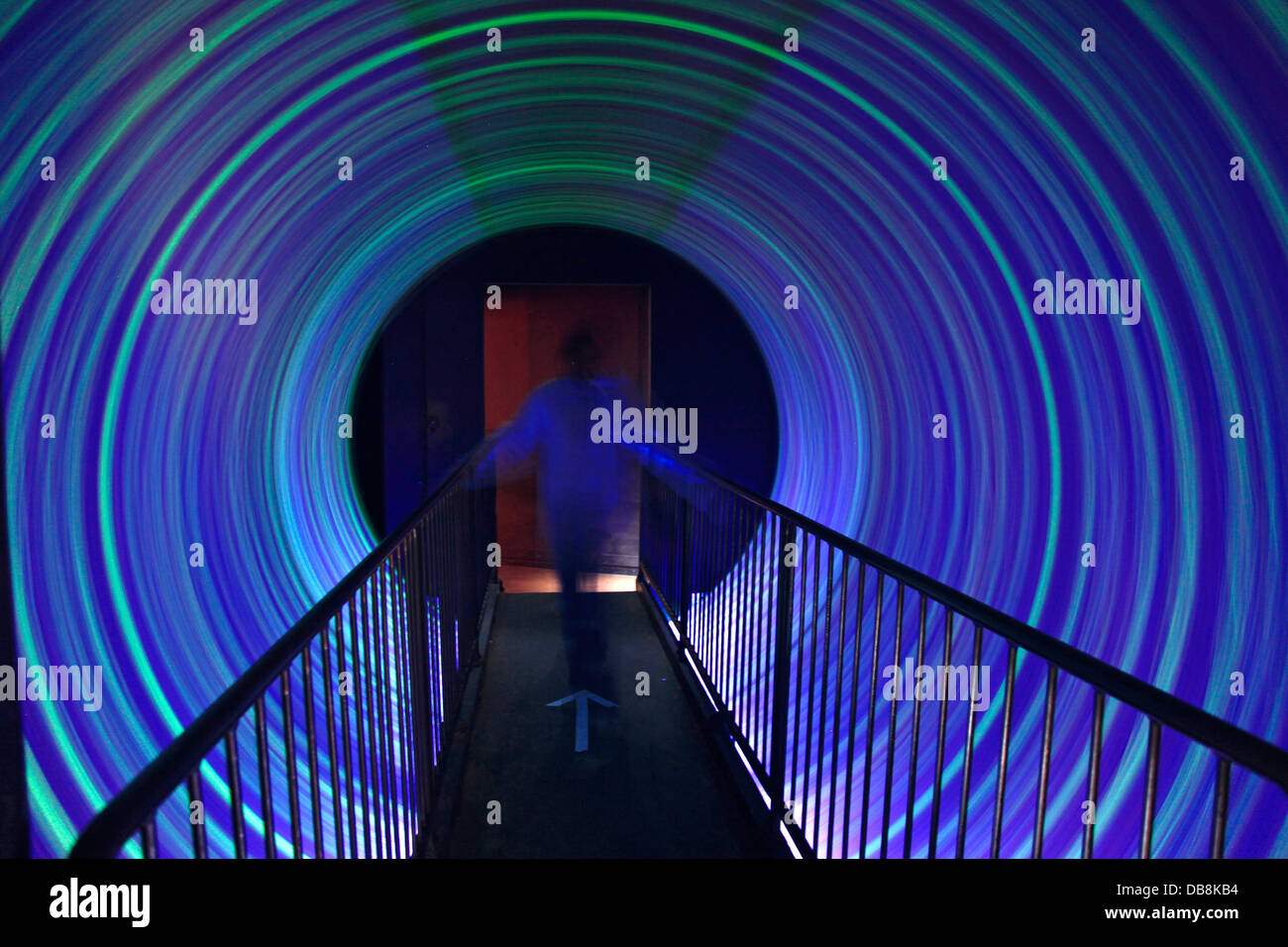 The Vortex which signifies the Big Bang Theory, at Maropeng Visitors Centre at Cradle of Humankind World Heritage - Stock Image