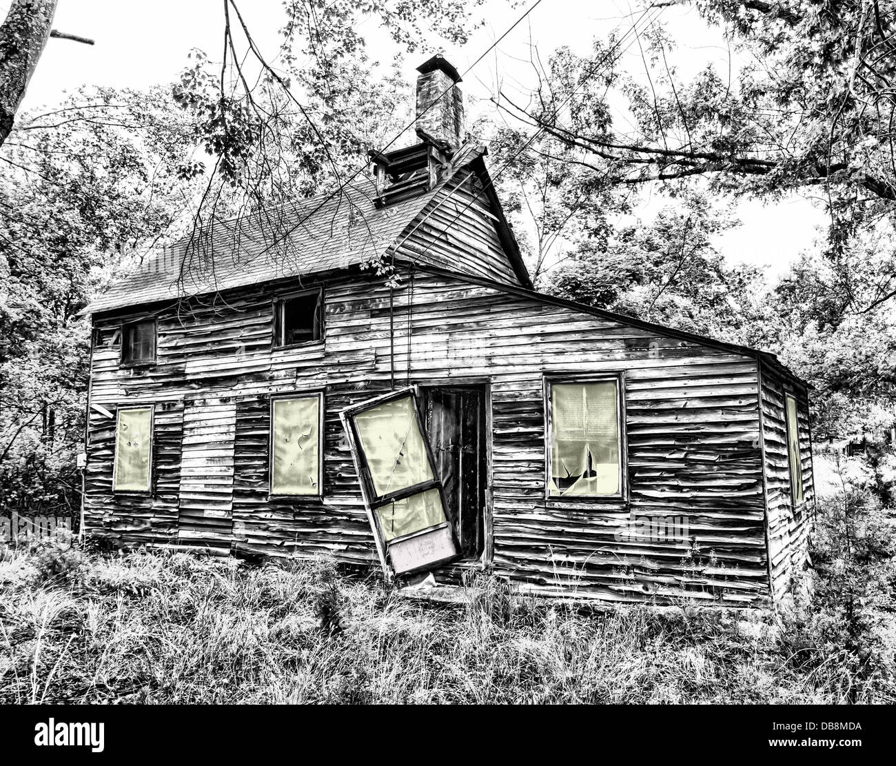 abandon home house countryside country nature - Stock Image
