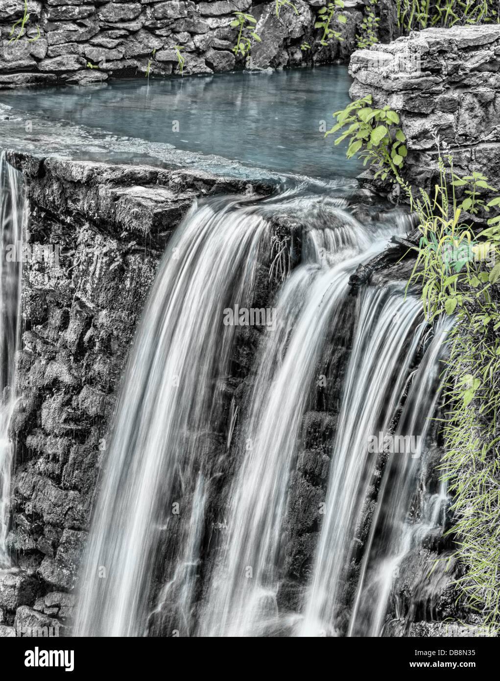 falls water cool clean crisp drop driven - Stock Image