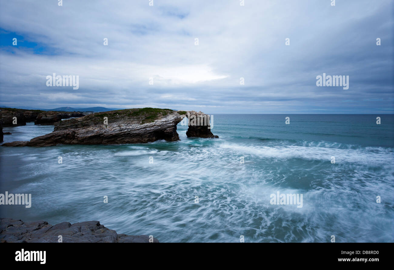 The Beach of the Cathedrals, Galicia (Spain) - Stock Image