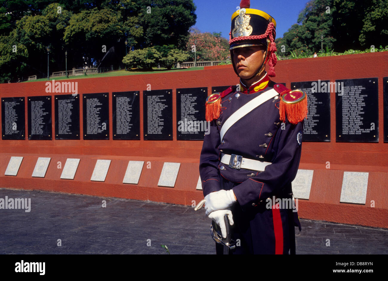 Monument to Falklands war heroes. Plaza San Martín. Buenos Aires. Argentina. - Stock Image
