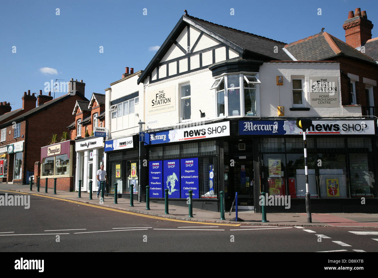 95826bac68d the mercury news shop a newsagent in rothley leicestershire - Stock Image
