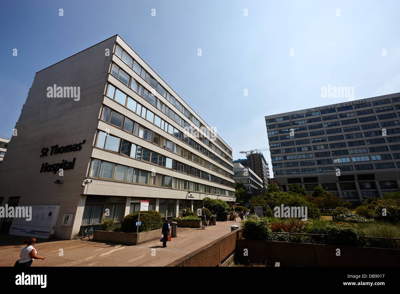 St Thomas hospital London England UK - Stock Image
