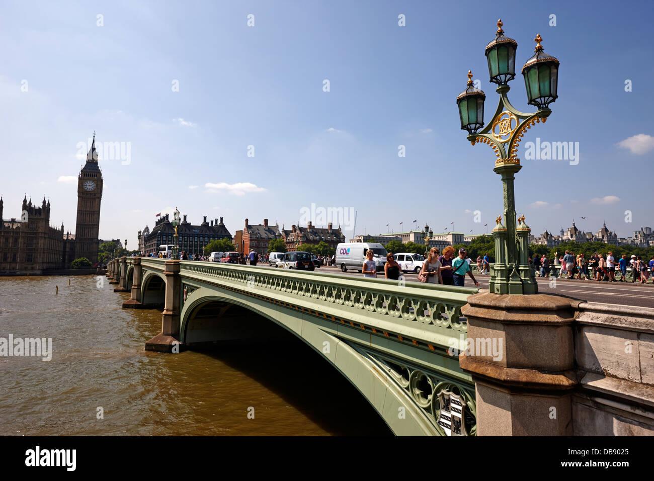 lampost on westminster bridge central London England UK Stock Photo