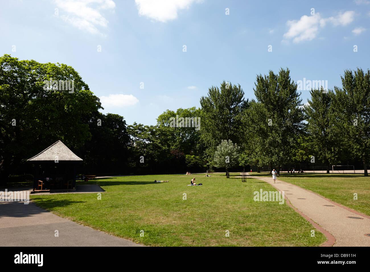 archbishops park lambeth London England UK - Stock Image
