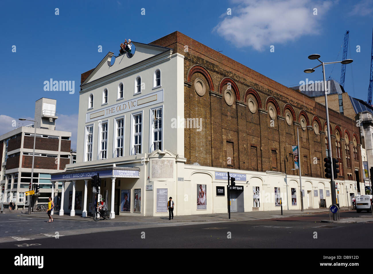 the old vic theatre London England UK - Stock Image