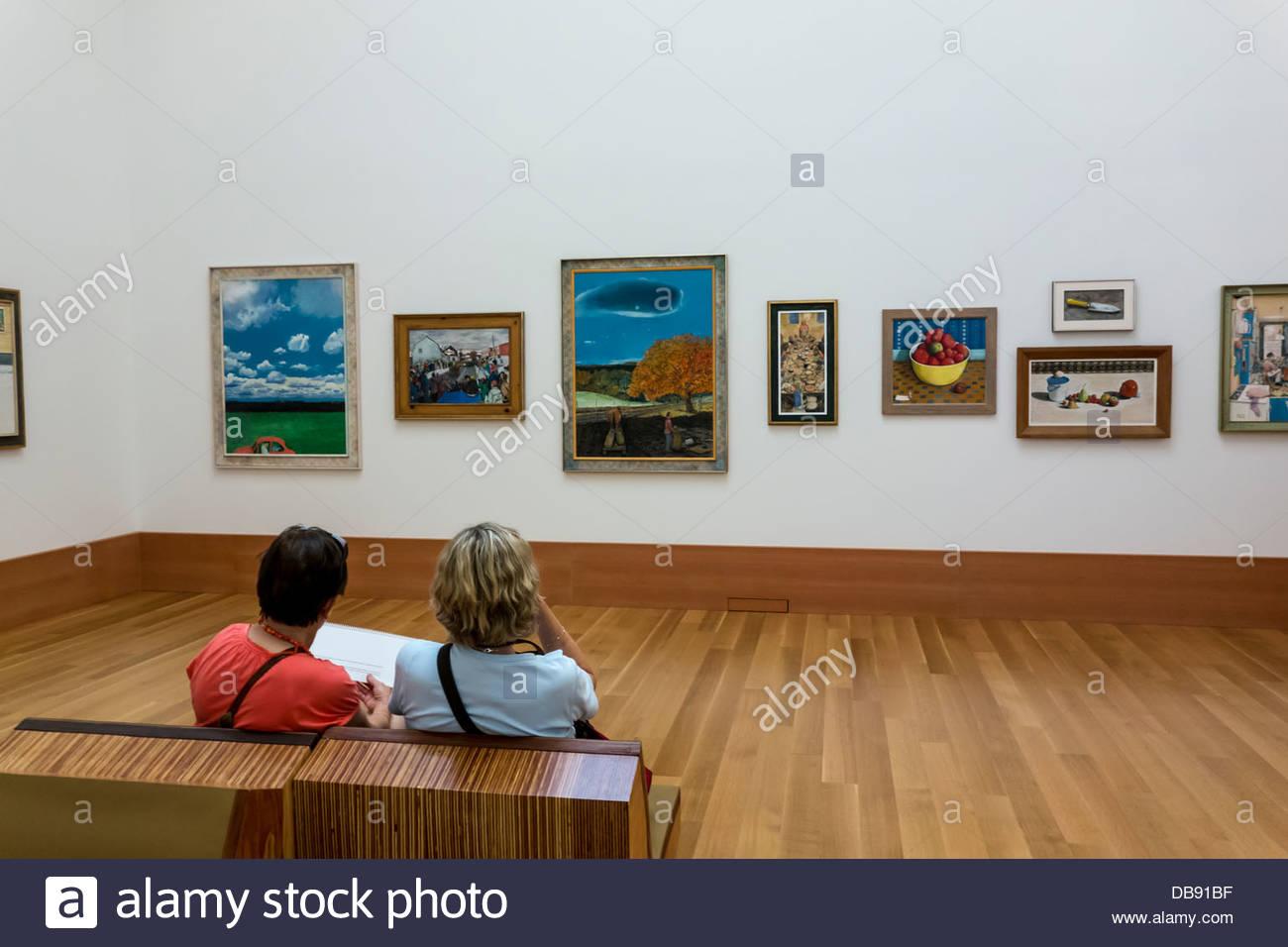 Paintings by William Kurelek on display in renovated Art Gallery of Ontario in Toronto Ontario Canada - Stock Image