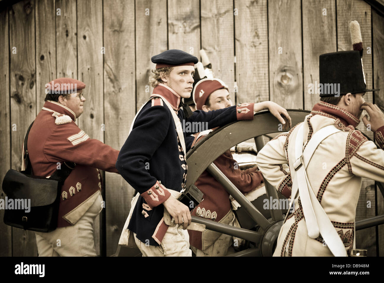Canada,Ontario,Niagara-on-the-Lake, Fort George National Historic Park, War of 1812 re-enactment - Stock Image