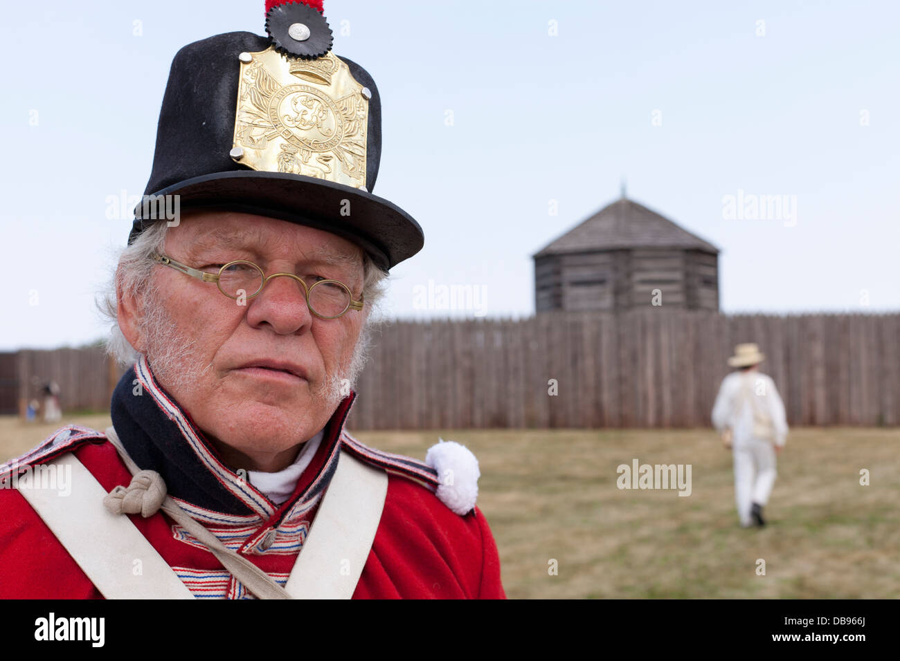 Canada,Ontario,Niagara-on-the-Lake, Fort George National Historic Park, 1812 re-enactment - Stock Image