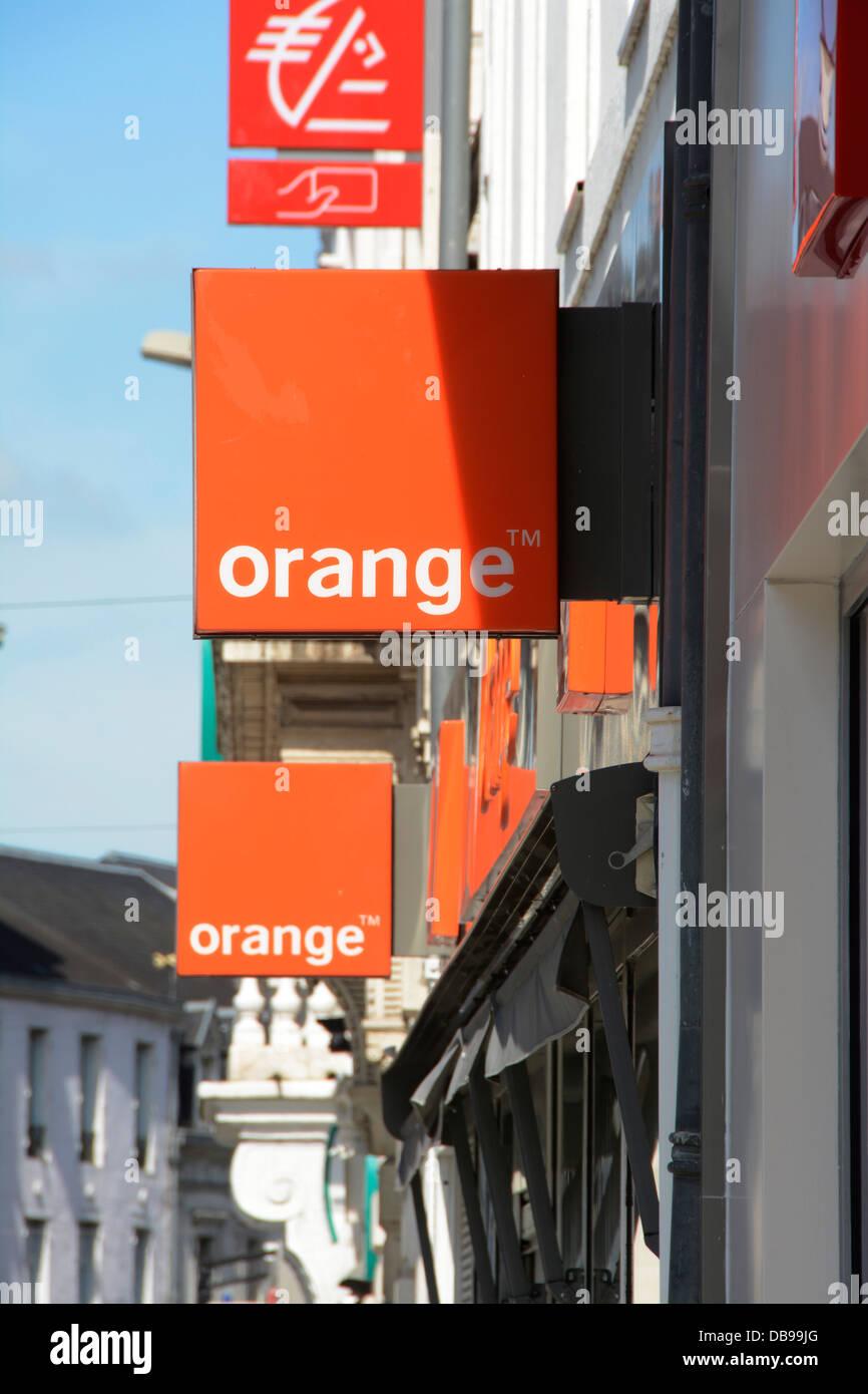 Logo of the telecommunications company Orange - Stock Image