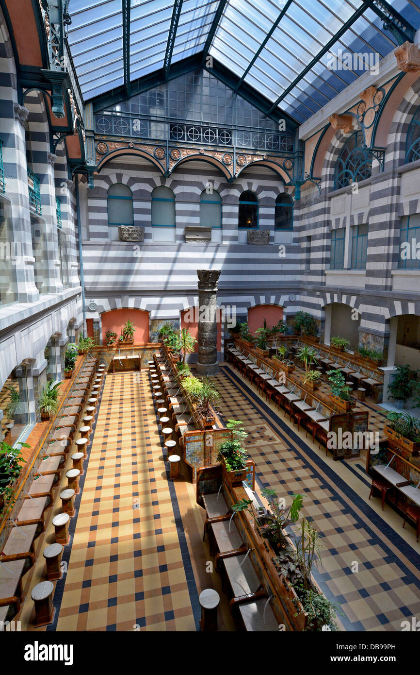 Inside the thermal spa at Le Mont-Dore, Auvergne, France -  The Hall des Sources. - Stock Image