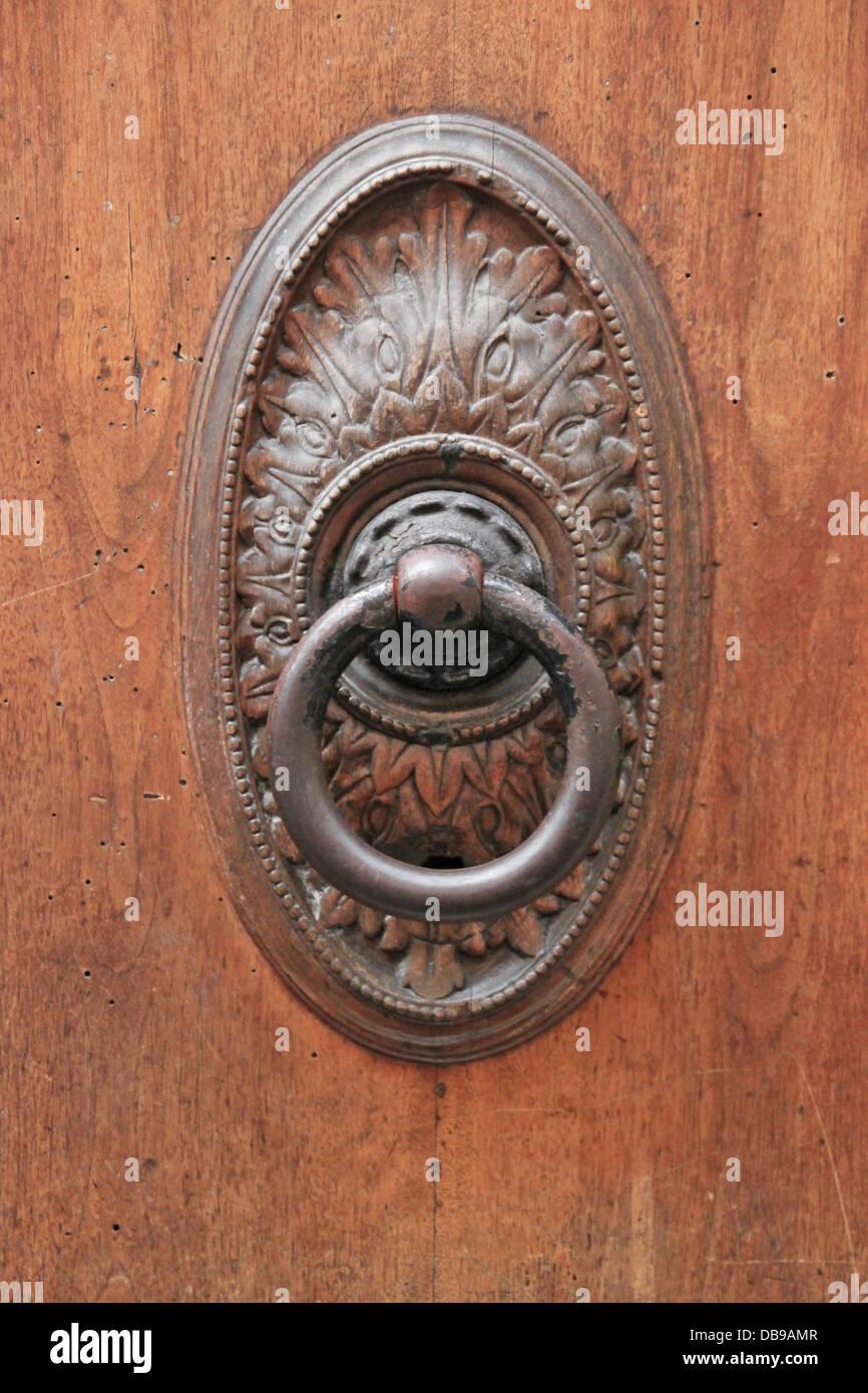 Antique door knocker (Italy) - Antique Door Knocker (Italy Stock Photo: 58598311 - Alamy