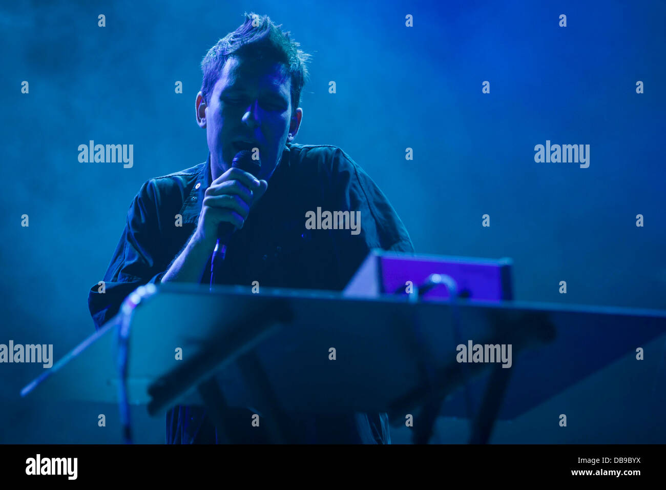 Jamie Lidell, performing at the Optimus Alive festival 2013, Lisbon, Portugal. - Stock Image