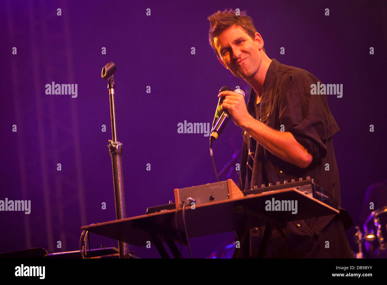 Jamie Lidell performing at the Optimus Alive festival, Lisbon, Portugal. - Stock Image