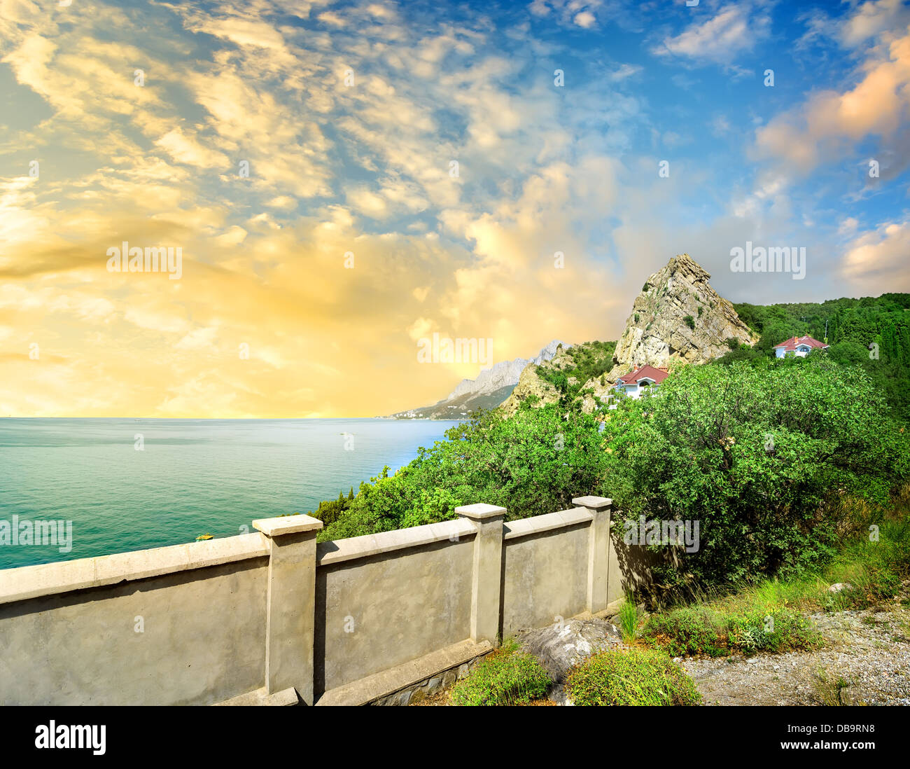 Observation deck on the mountain Iphigenia Stock Photo