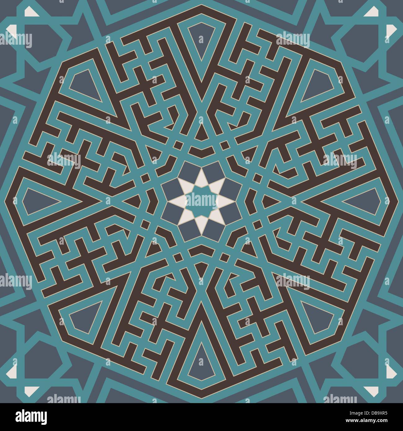 Arabesque seamless pattern - Stock Image