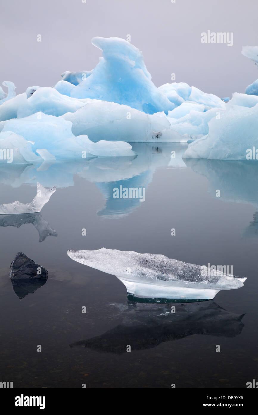 Iceberg at Jokulsarlon Iceland global warming landscape - Stock Image
