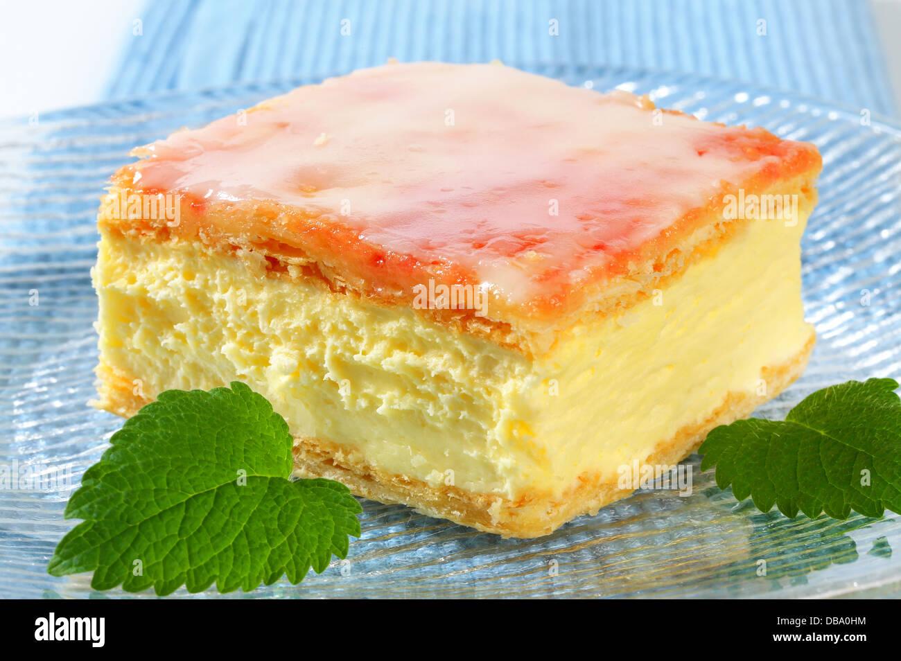 Custard (Vanilla) Slice - Stock Image