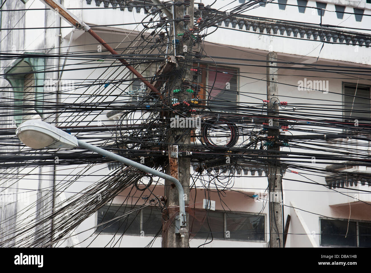 Get wired in Thailand Stock Photo: 58613111 - Alamy