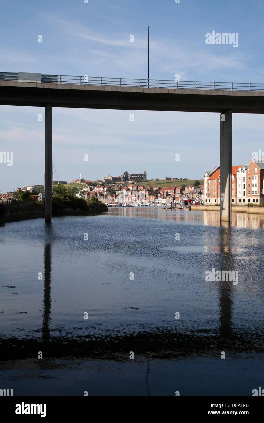 Whitby River Esk - Stock Image