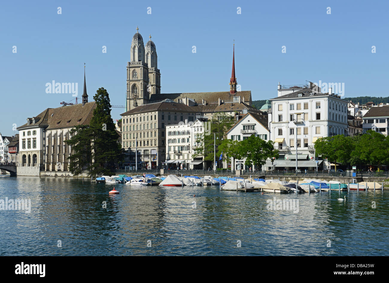 Zurich is the largest city of Switzerland - Stock Image